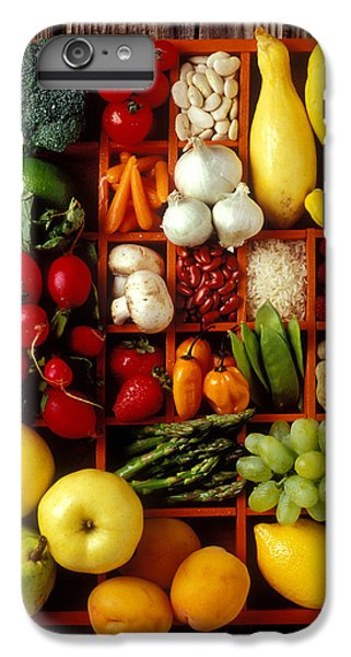 Fruits And Vegetables In Compartments IPhone 6 Plus Case by Garry Gay