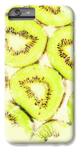 Full Frame Shot Of Fresh Kiwi Slices With Seeds IPhone 6 Plus Case