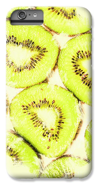 Full Frame Shot Of Fresh Kiwi Slices With Seeds IPhone 6 Plus Case by Jorgo Photography - Wall Art Gallery