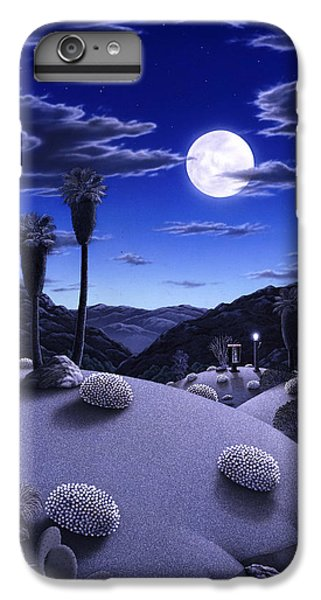 Desert iPhone 6 Plus Case - Full Moon Rising by Snake Jagger