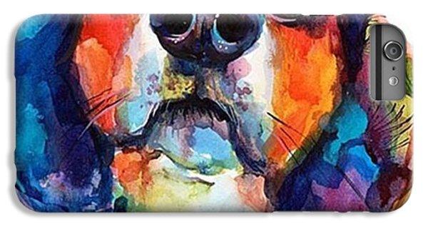 iPhone 6 Plus Case - Funny Beagle Watercolor Portrait By by Svetlana Novikova