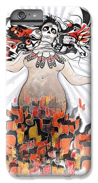 Raven iPhone 6 Plus Case - Gaia In Turmoil by Sassan Filsoof