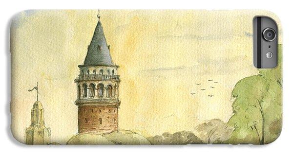 Turkey iPhone 6 Plus Case - Galata Tower Istanbul by Juan Bosco