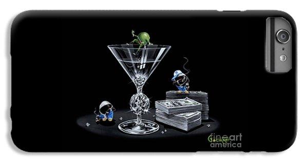 Martini iPhone 6 Plus Case - Gangsta Martini Livin' Large by Michael Godard