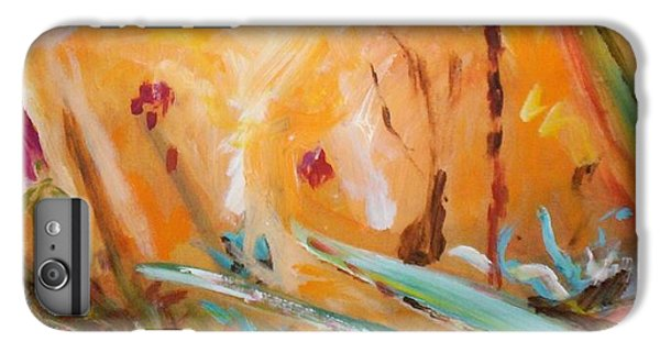 IPhone 6 Plus Case featuring the painting Garden Moment by Winsome Gunning