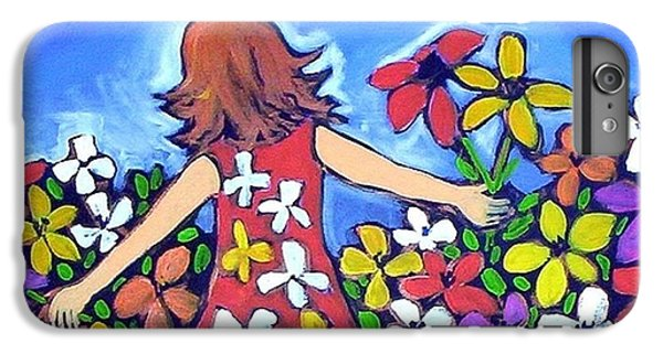 IPhone 6 Plus Case featuring the painting Garden Of Joy by Winsome Gunning