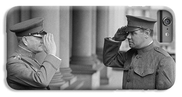 General John Pershing Saluting Babe Ruth IPhone 6 Plus Case