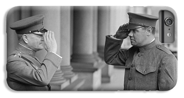 General John Pershing Saluting Babe Ruth IPhone 6 Plus Case by War Is Hell Store