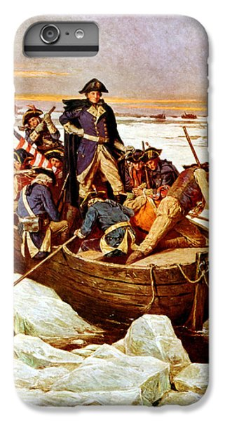 General Washington Crossing The Delaware River IPhone 6 Plus Case by War Is Hell Store