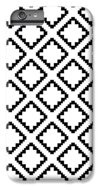 Geometricsquaresdiamondpattern IPhone 6 Plus Case by Rachel Follett