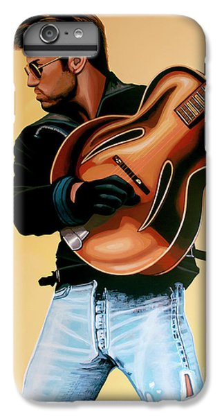Elton John iPhone 6 Plus Case - George Michael Painting by Paul Meijering