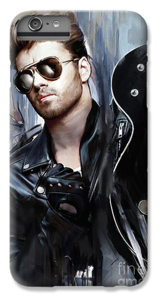 Elton John iPhone 6 Plus Case - George Michael Singer by Melanie D