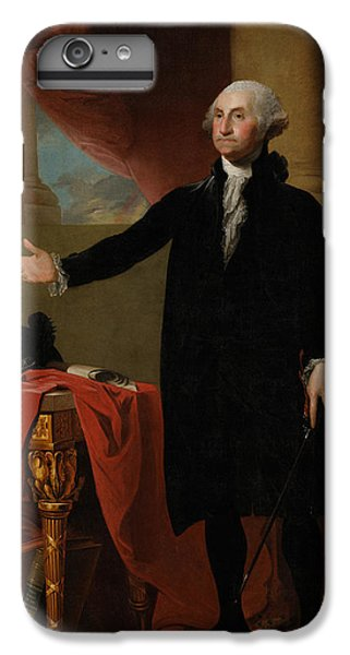 George Washington Lansdowne Portrait IPhone 6 Plus Case by War Is Hell Store