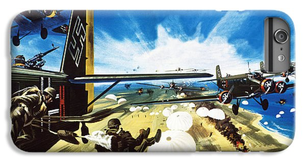 German Paratroopers Landing On Crete During World War Two IPhone 6 Plus Case by Wilf Hardy