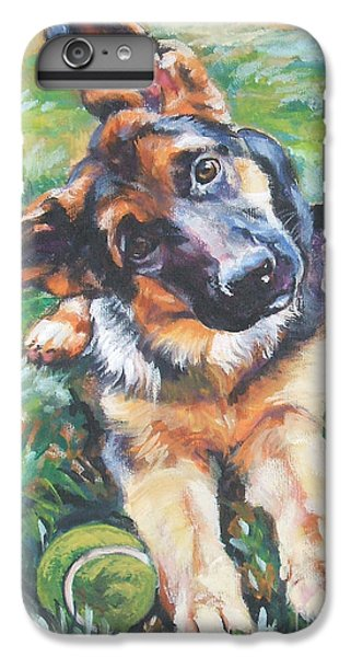 Dog iPhone 6 Plus Case - German Shepherd Pup With Ball by Lee Ann Shepard