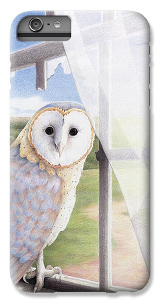 Owl iPhone 6 Plus Case - Ghost In The Attic by Amy S Turner