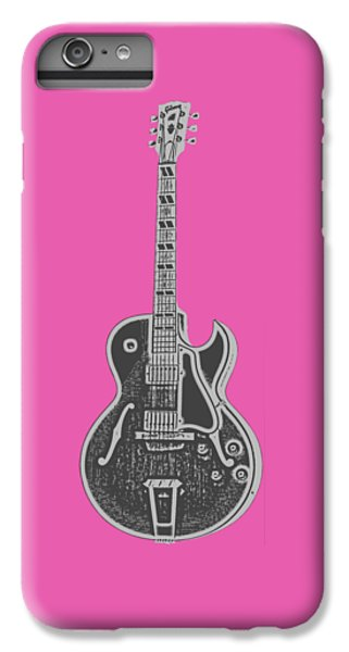 Guitar iPhone 6 Plus Case - Gibson Es-175 Electric Guitar Tee by Edward Fielding