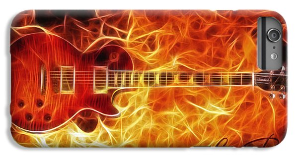 Rock Music Jimmy Page iPhone 6 Plus Case - Gibson Les Paul by Zapista Zapista