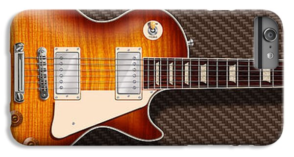 Rock Music Jimmy Page iPhone 6 Plus Case - Gibson Les Paul by WB Johnston