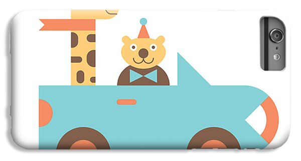 Truck iPhone 6 Plus Case - Animal Car Pool by Mitch Frey