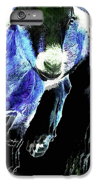 Goat Pop Art - Blue - Sharon Cummings IPhone 6 Plus Case by Sharon Cummings