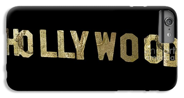 Beverly Hills iPhone 6 Plus Case - Gold Hollywood Sign by Mindy Sommers