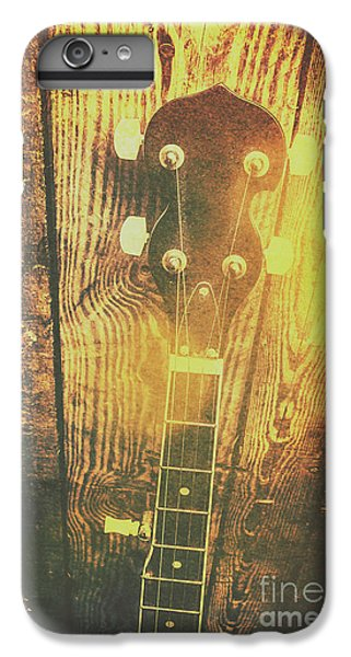 Golden Banjo Neck In Retro Folk Style IPhone 6 Plus Case