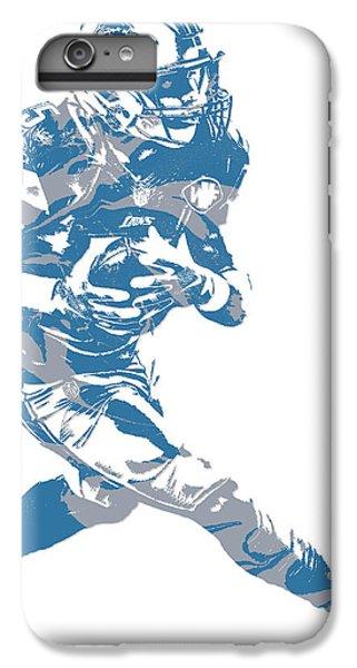Lion iPhone 6 Plus Case - Golden Tate Detroit Lions Pixel Art 2 by Joe Hamilton