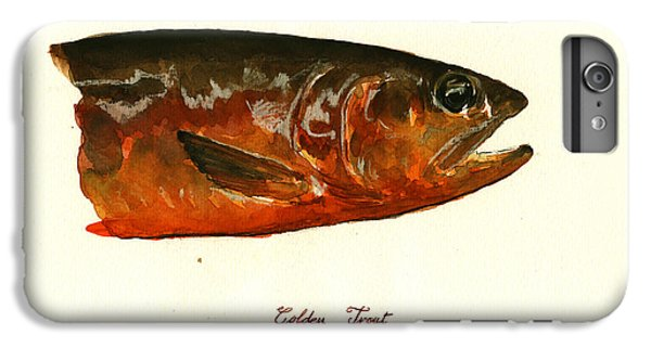 Golden Trout  IPhone 6 Plus Case by Juan  Bosco
