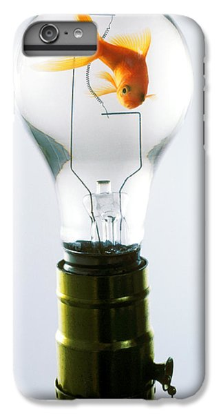 Goldfish iPhone 6 Plus Case - Goldfish In Light Bulb  by Garry Gay