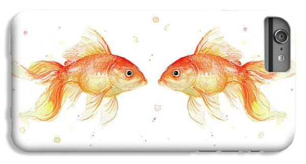 Goldfish Love Watercolor IPhone 6 Plus Case