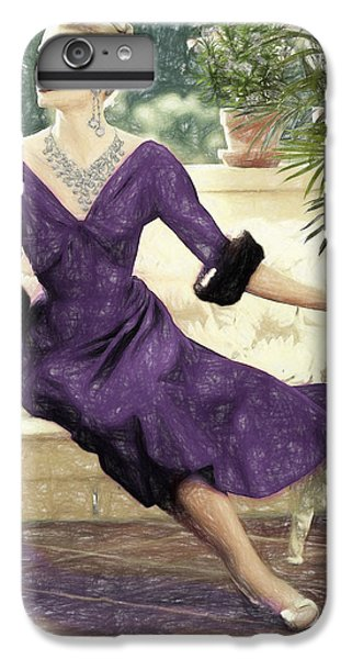 Grace Kelly Draw IPhone 6 Plus Case by Quim Abella