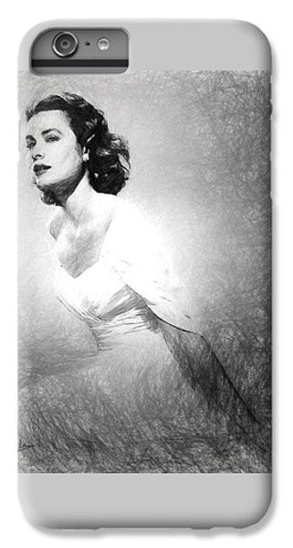 Grace Kelly Sketch IPhone 6 Plus Case by Quim Abella