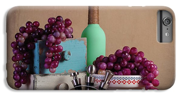 Grapes With Wine Stoppers IPhone 6 Plus Case by Tom Mc Nemar