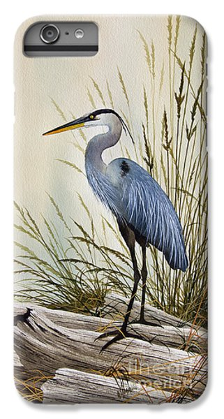 Heron iPhone 6 Plus Case - Great Blue Heron Shore by James Williamson