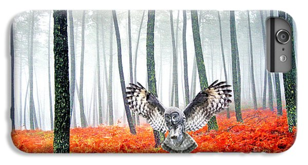 Owl iPhone 6 Plus Case - Great Grey Owl by Laura D Young