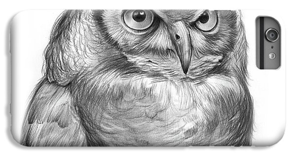 Nature iPhone 6 Plus Case - Great Horned Owl by Greg Joens