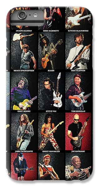 Rock Music Jimmy Page iPhone 6 Plus Case - Greatest Guitarists Of All Time by Zapista Zapista