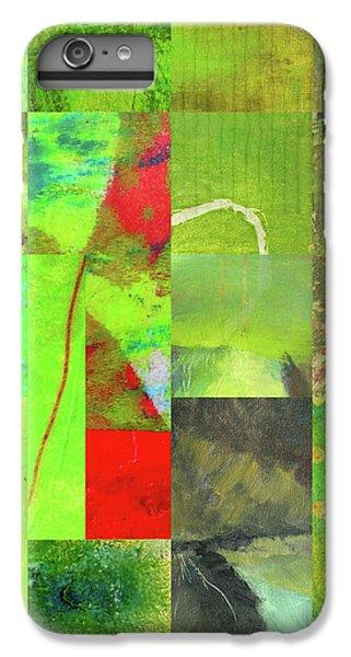 IPhone 6 Plus Case featuring the digital art Green Grid by Nancy Merkle