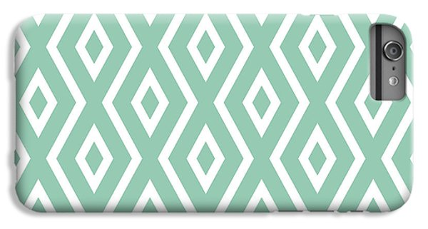 Green iPhone 6 Plus Case - Light Sage Green Pattern by Christina Rollo