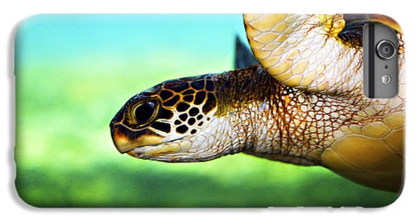 Green Sea Turtle IPhone 6 Plus Case by Marilyn Hunt