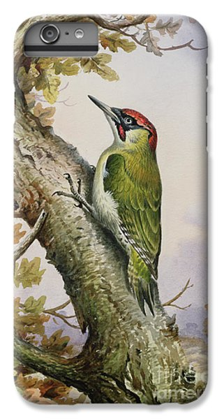 Green Woodpecker IPhone 6 Plus Case by Carl Donner