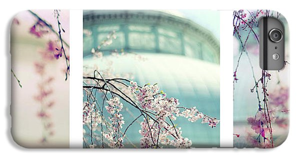 IPhone 6 Plus Case featuring the photograph Greenhouse Blossoms Triptych by Jessica Jenney
