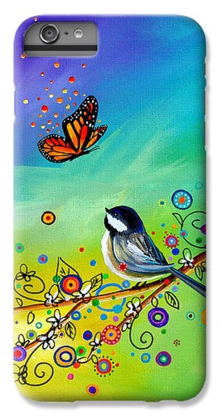 Chickadee iPhone 6 Plus Case - Greetings by Cindy Thornton