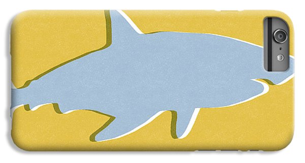 Sharks iPhone 6 Plus Case - Grey And Yellow Shark by Linda Woods
