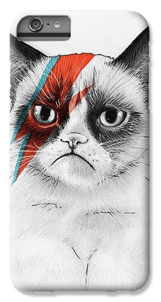 iPhone 6 Plus Case - Grumpy Cat As David Bowie by Olga Shvartsur