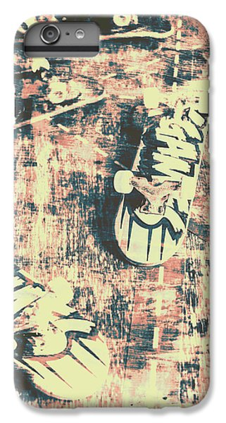 Truck iPhone 6 Plus Case - Grunge Skateboard Poster Art by Jorgo Photography - Wall Art Gallery
