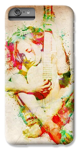 Rock And Roll iPhone 6 Plus Case - Guitar Lovers Embrace by Nikki Smith
