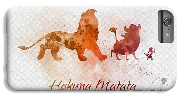Lion iPhone 6 Plus Case - Hakuna Matata by My Inspiration