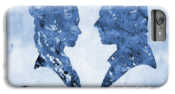 Han Solo iPhone 6 Plus Case -  Han Solo And Princess Leia-blue by Erzebet S